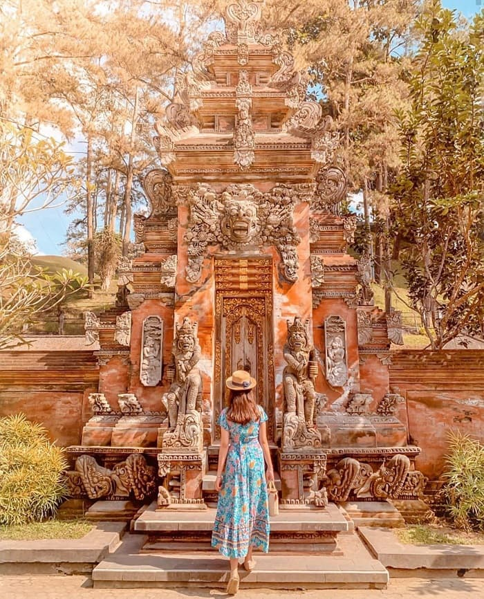 Temple Tirta Empul - holy water temple with beautiful architecture in Bali