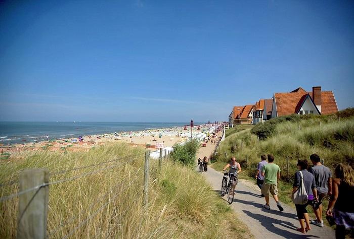 Have fun at De Haan beach in Belgium's Flanders region