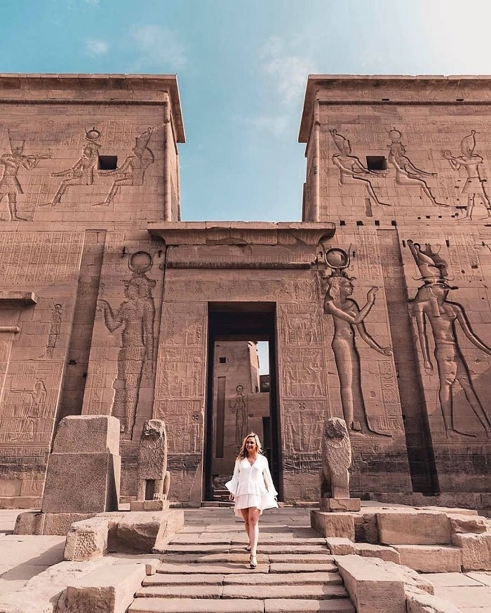 Fascinated by the intricate reliefs of the Egyptian Philae temple