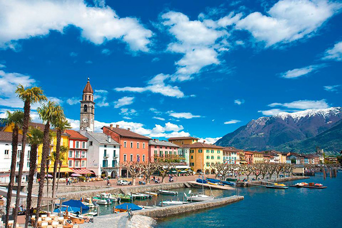The state of Ticino - the only Italian-speaking land in Switzerland