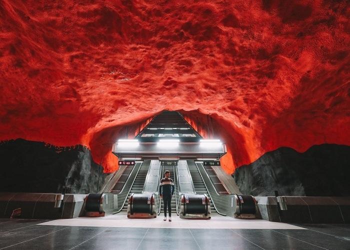 Khám phá bên trong những ga tàu ấn tượng tại Thụy Điển