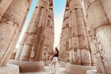 Ngỡ ngàng trước vẻ tráng lệ của đền Luxor Ai Cập