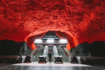 Bên trong những ga tàu ấn tượng tại Thụy Điển