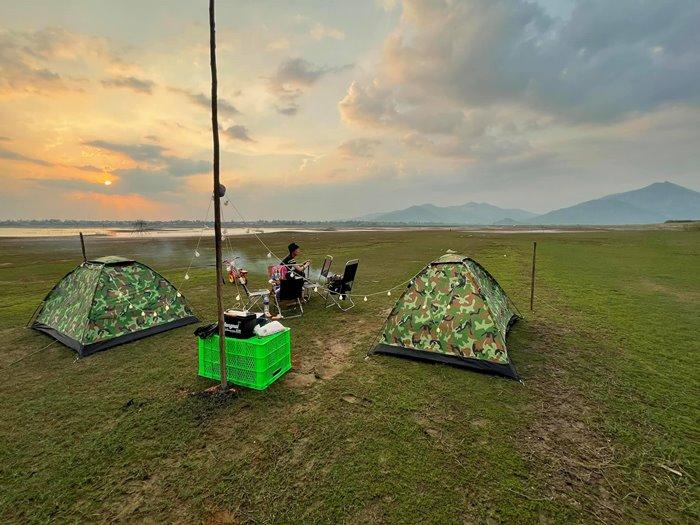 Bãi bồi Tiên Sơn địa điểm cắm trại ở Gia Lai