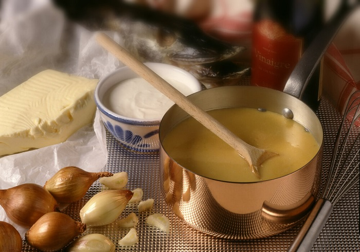 Beurre Blanc Sauce - Typical French cuisine