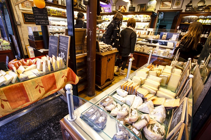 A cheese shop in France