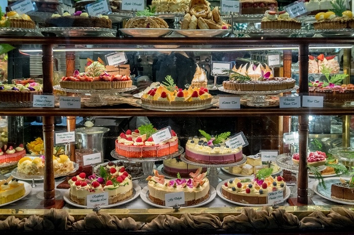 A bakery in Paris - Typical French cuisine