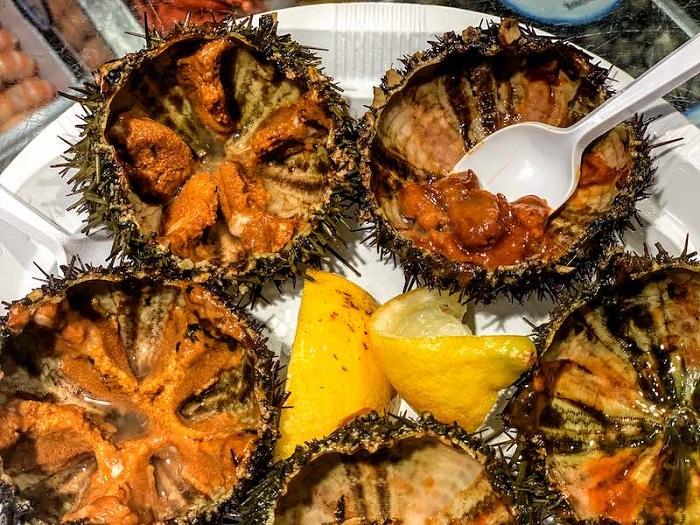 Nhím biển - Món ăn nổi tiếng ở Ý