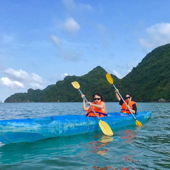 Kayaking - an exciting experience at Nam Cat Island