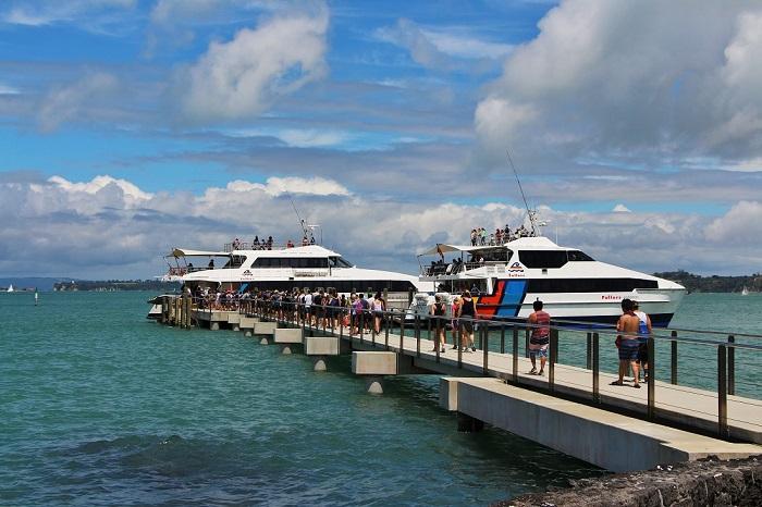 Bến tàu từ thành phố đến đảo Rangitoto