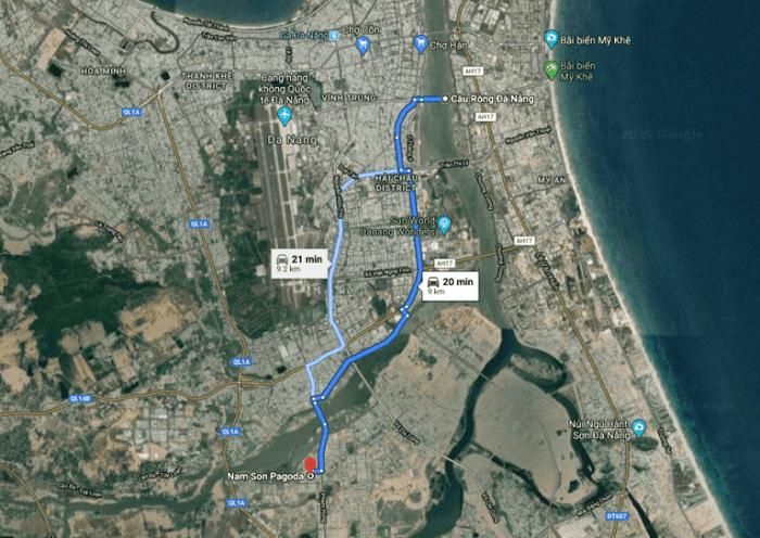 Đường đi đến chùa Nam Sơn Đà Nẵng