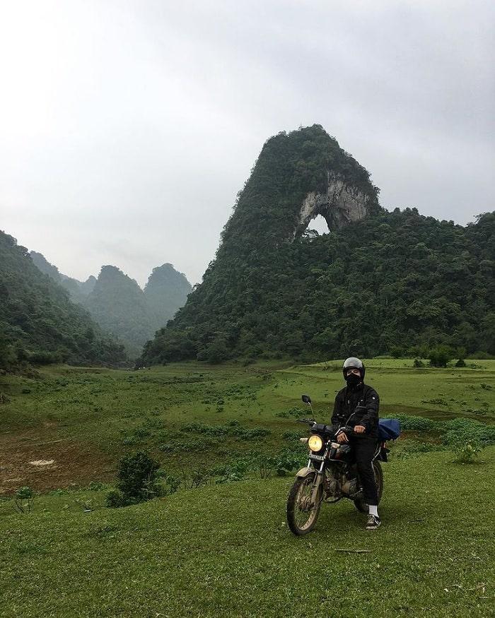 xe máy - phương tiện du lịch Trà Lĩnh