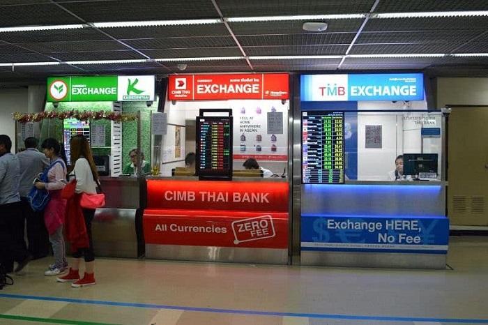 Address to exchange baht - change money in Thailand