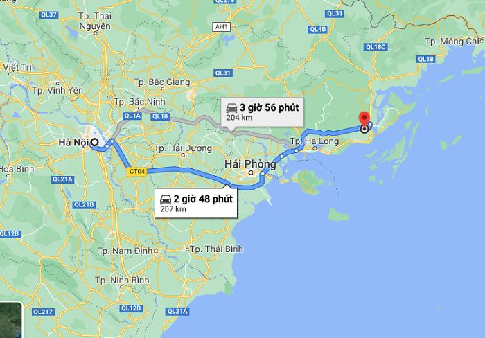Cam Pha tourism - how to move