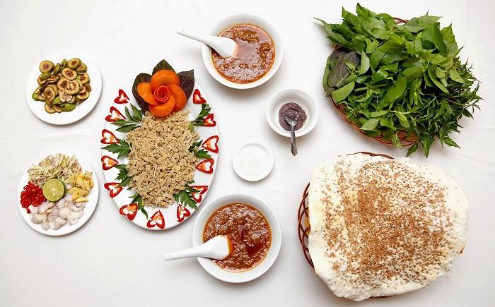 Fish salad in Ninh Binh