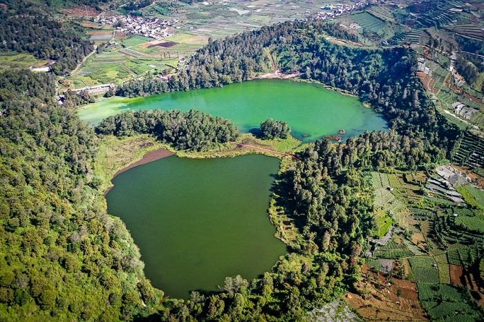 Hồ Telaga Warna- Cao nguyên Dieng