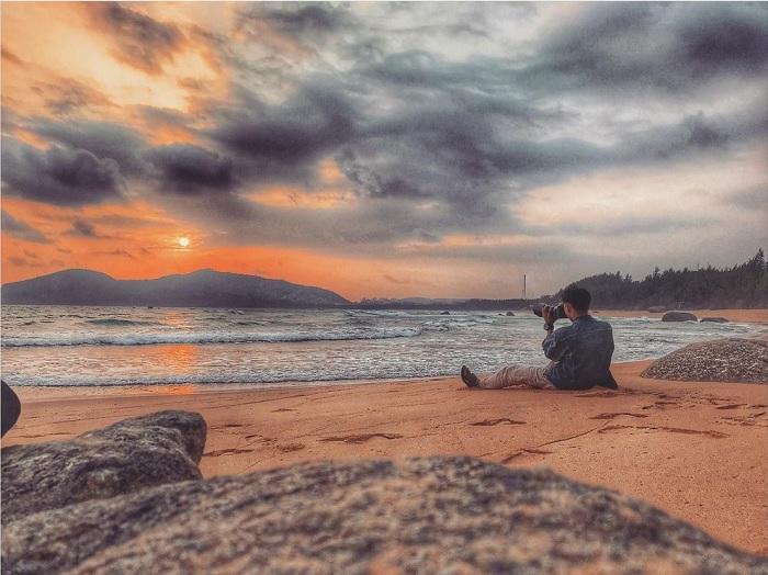 hoàng hôn - khoảnh khắc đẹp trên Vịnh Dung Quất