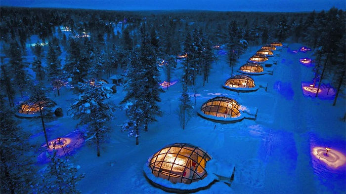 Lếu tuyết trong rừng - Khách sạn độc đáo nhất thế giới