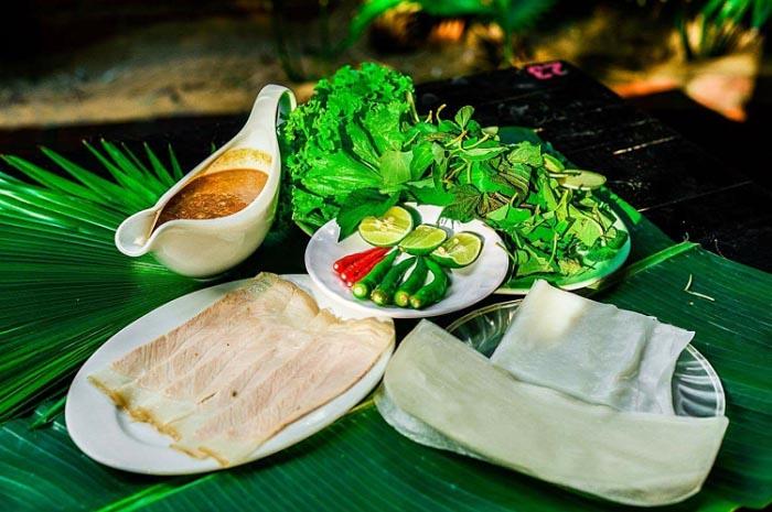 Top địa chỉ ăn bánh tráng cuốn thịt heo ở Đà Nẵng - Mỗi phần bánh tráng