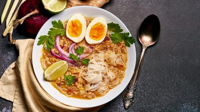 Món mì Mohinga - Món ăn có nước súp ngon nhất thế giới