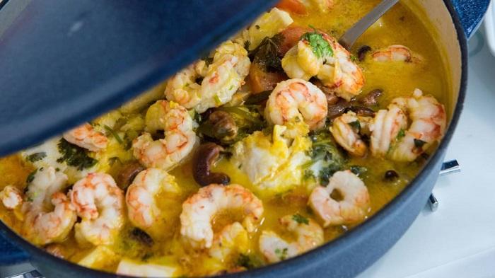 Món Moqueca de camarão - Món ăn có nước súp ngon nhất thế giới