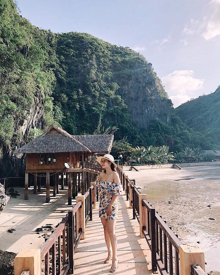 resort - chỗ nghỉ tại đảo Nam Cát