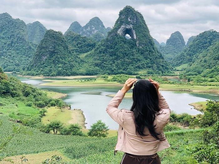 núi mắt thần - điểm du lịch Trà Lĩnh