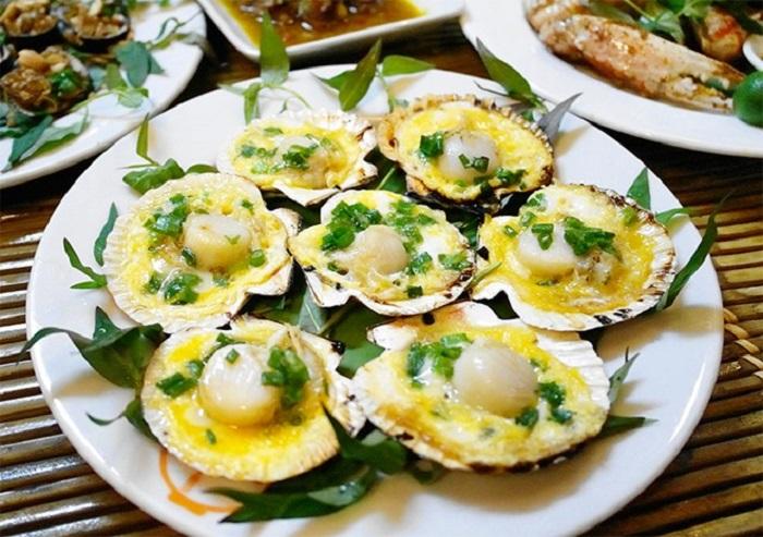 quán ăn ngon ở Cô Tô - Nhà hàng trên bãi biển Ngọc Quỳnh đồ ăn