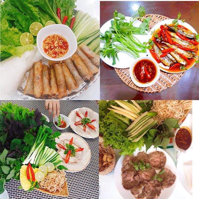 Top địa chỉ ăn bánh tráng cuốn thịt heo ở Đà Nẵng - Quán đặc sản Năm Hiền