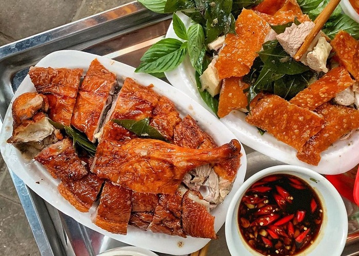 The delicious roast duck shops in Lang Son - Hai Xom roasted duck noodle menu