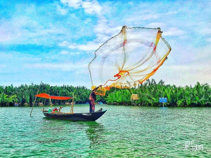 fishing - people's activities in the nipa palm forest in Quang Ngai