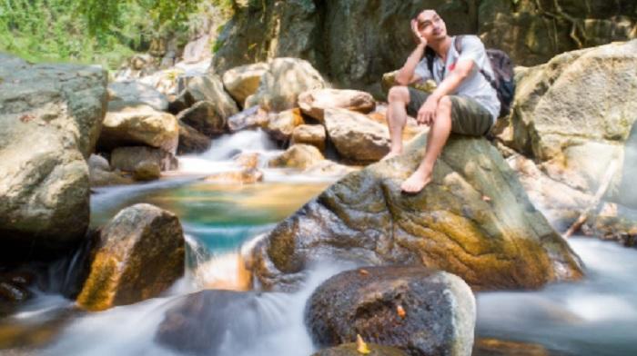 O valley waterfall - destination near Ton Dung Lake