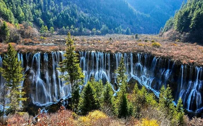 Shuzheng Lake & Waterfall - China Jiuzhaigou Travel