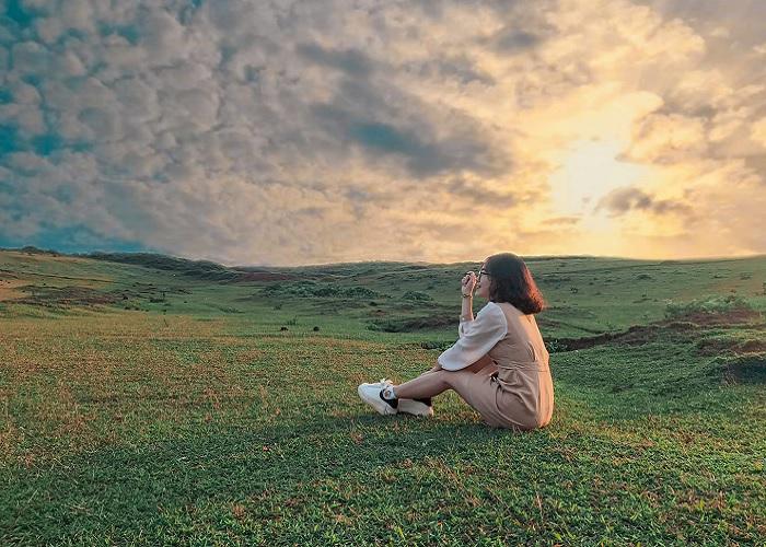 khung cảnh thơ mộng của thảo nguyên Bùi Hui