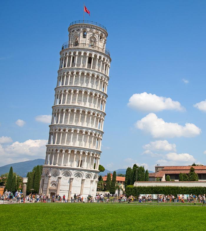 Chiêm ngưỡng tháp nghiêng Pisa -  hình trụ tròn thu nhỏ dần