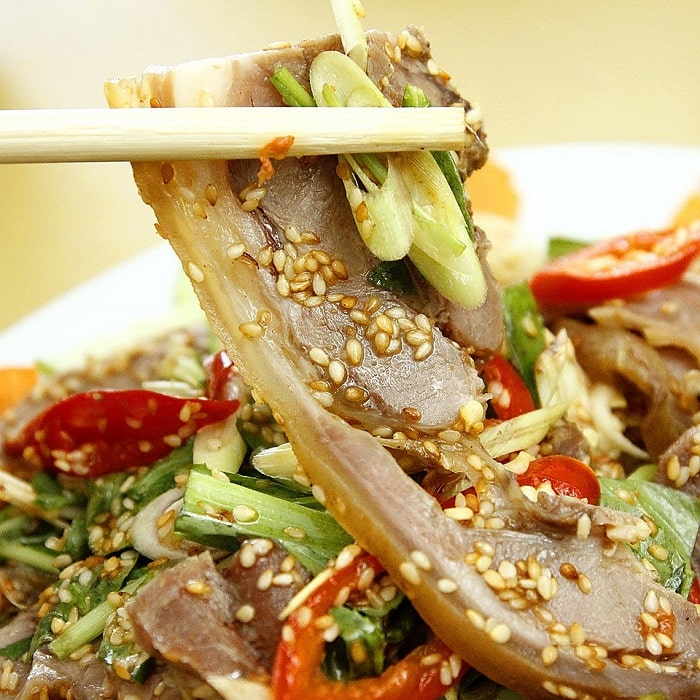 In addition to Ninh Binh fish salad, this place also has goat meat specialties