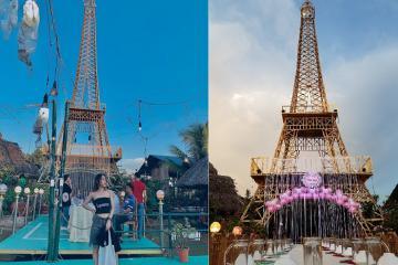 Đến khu Ẩm Thực Sinh Vật Cảnh An check in tòa tháp Eiffel 'xịn' nhất Tây Ninh