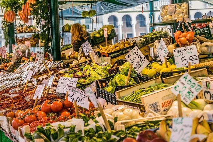 Chợ thực phẩm tại Venice-  Ẩm thực đường phố Venice