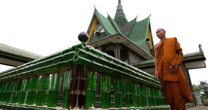 Sharing of the temple owner Wat Pa Maha Chedi Kaew abbot