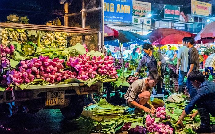 những ngôi chợ nổi tiếng Hà Nội