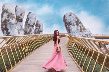 Khám phá vẻ đẹp lộng lẫy và kỳ ảo của Cầu Vàng Đà Nẵng