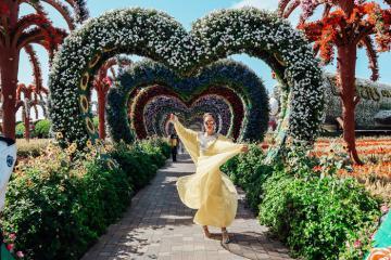 Vườn hoa Dubai Miracle Garden – thiên đường hoa giữa thung lũng sa mạc