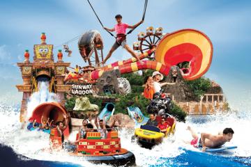 Rủ nhau càn quét thiên đường giải trí Sunway Lagoon tại Kuala Lumpur