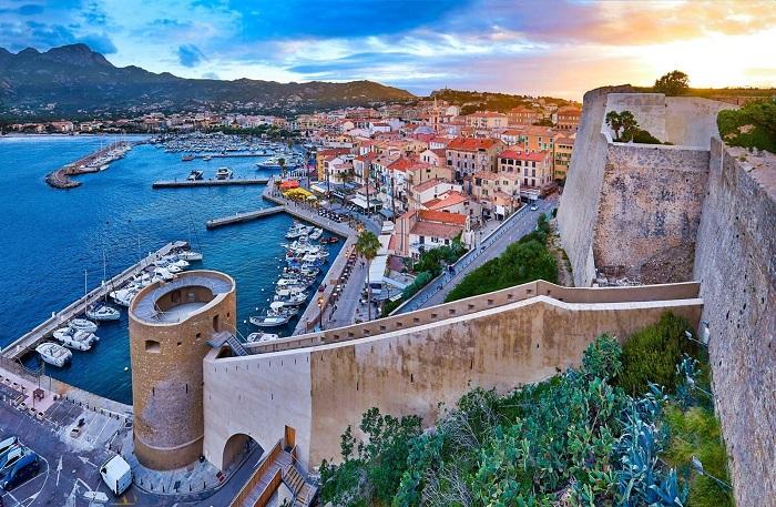 The ancient town of Calvi - Corsica Island, France