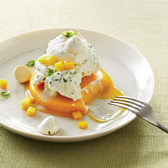 Mango - basil - vacherin - French desserts that can melt you in sweetness