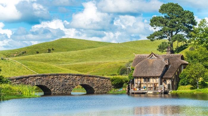 Phim trường Hobbiton thị trấn Matamata New Zealand