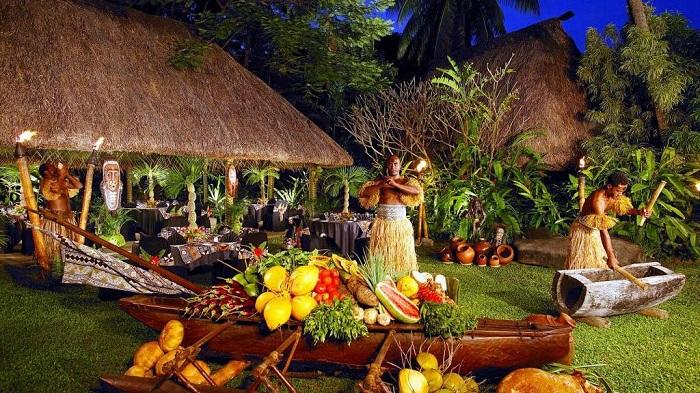 Một bữa tiệc trên Quần đảo Cook