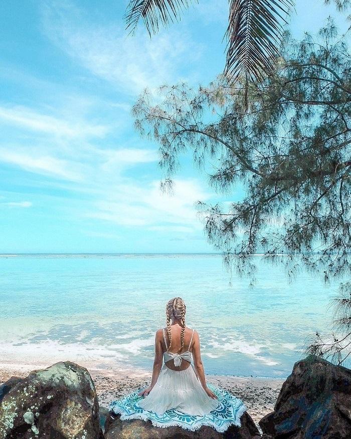 Trên bãi biển đảo Aitutaki - Quần đảo Cook