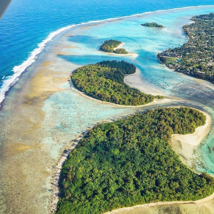 Vẻ đẹp đảo chính nhìn từ trên cao - Quần đảo Cook