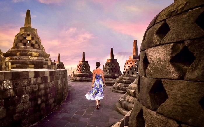 Đền Borobudur đảo Java - Đảo du lịch ở Indonesia
